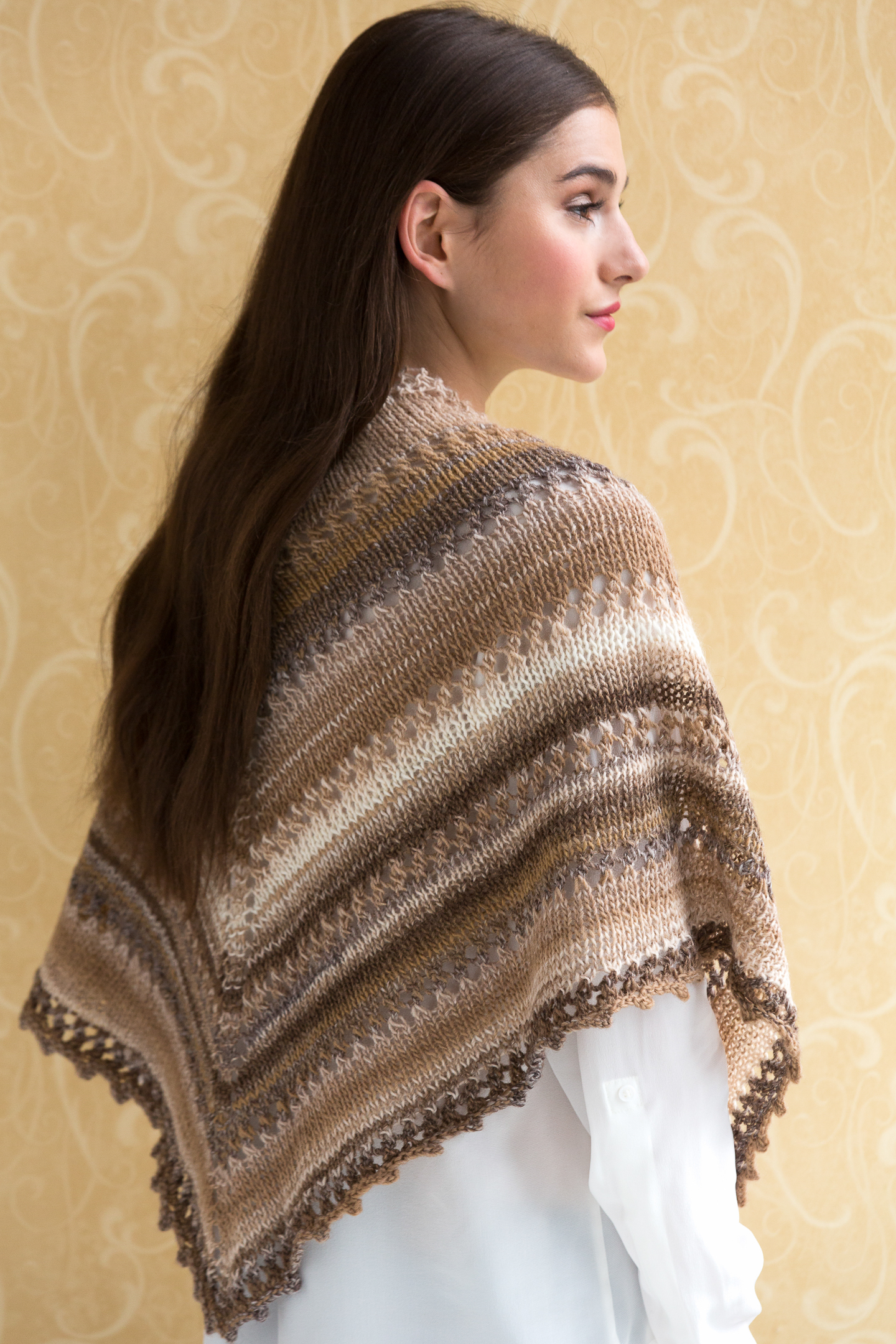Simple Poncho Crochet Pattern Simple Knit Shawl In Navajo Tahki Stacy Charles