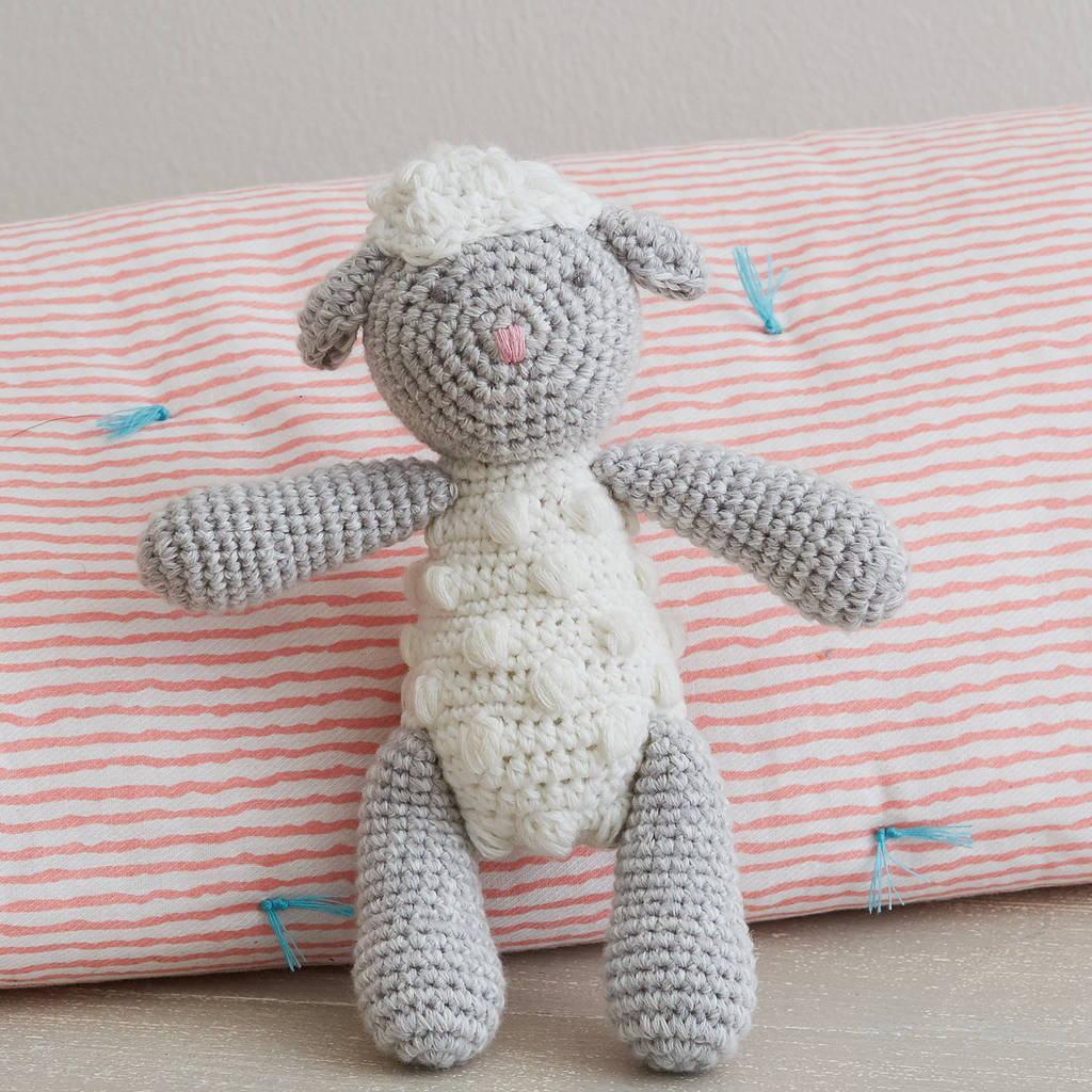 The Sweetest Crochet Lamb Patterns for Free Hand Crochet Lamb Ba Rattle Albetta Notonthehighstreet