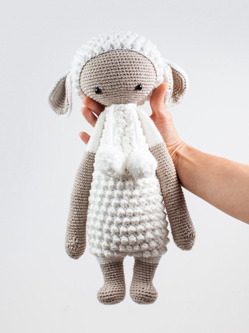 The Sweetest Crochet Lamb Patterns for Free Lupo The Lamb Crochet Toy Crochet Stuffed Animal Toy Stuffed Lamb