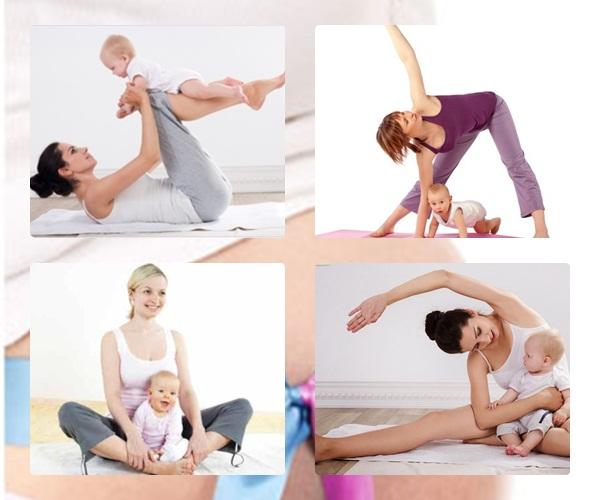 Giúp mẹ giữ vóc dáng cân đối sau sinh