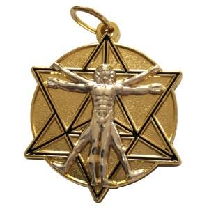 Médaille Merkaba de Vinci