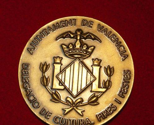 Medalla de sobremesa del Ayuntamiento de Valencia