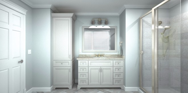 Portico example - Vanity and Linen