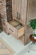 "2 drawer Linen with Matching End modification. (24"" w x 84"" h x 21"" dp)."