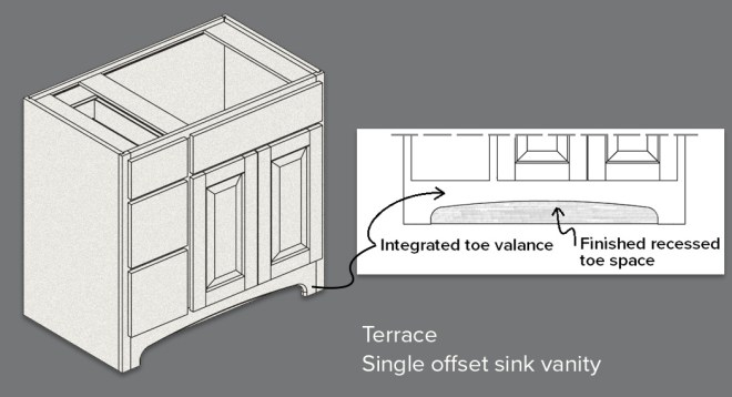 Terrace vanity toe detail