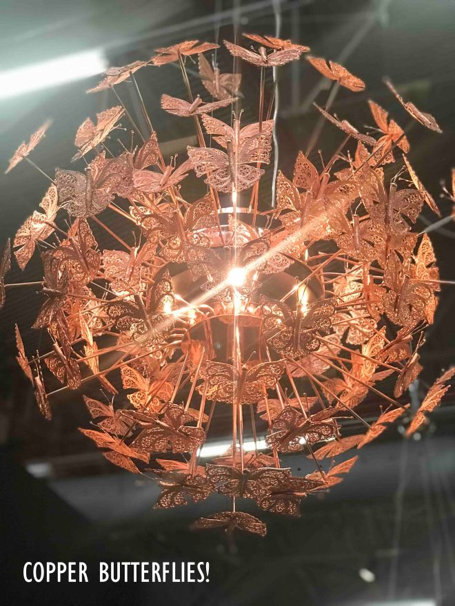COPPER BUTTERFLY LIGHT
