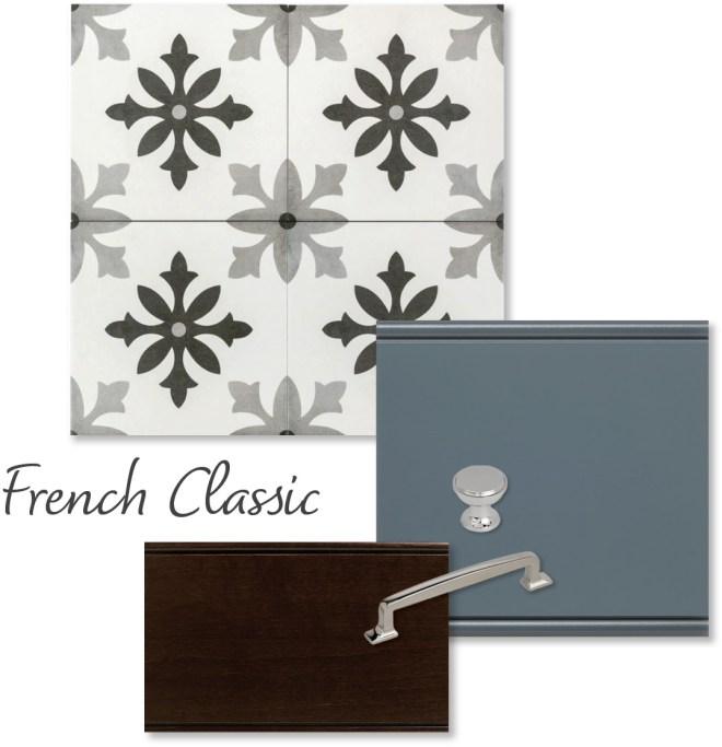French classic collage