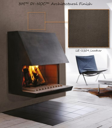 3M DI-NOC ARCHITECTURAL LEATHER MATERIAL_FIREPLACE