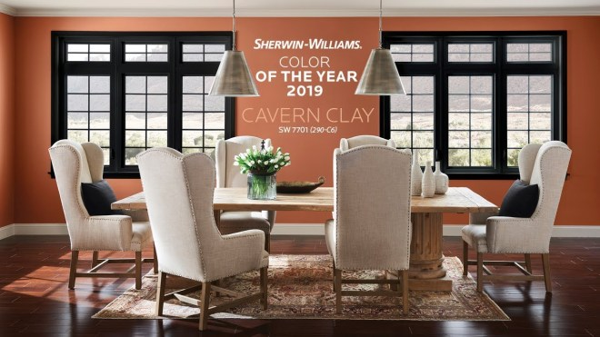 Sherwin Williams Cavern Clay_with type on wall