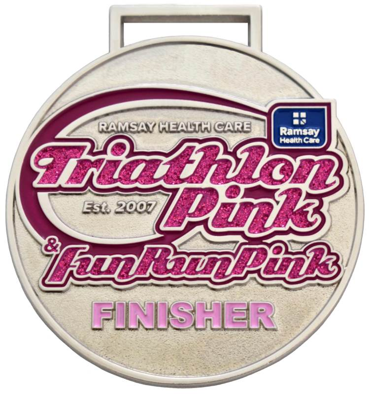 Medals Australia - Custom Designed Medals - Triathlon Pink