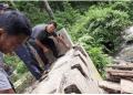 Jembatan Penghubung Desa Aek Mata dan Panyabungan Ambruk