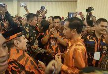 Presiden Jokowi hadir di Acara HUT Ke-58 Pemuda Pancasila