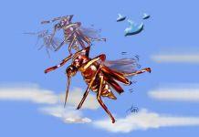 Ilustrasi nyamuk Aedes aegypti dan DBD (Demam Berdarah Dengue)(TOTO SIHONO)