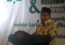 Ketua Umum PBNU Said Aqil Siradj saat konferensi pers terkait rencana penyelenggaraan Munas dan Konbes NU 2017 di gedung PBNU, Jakarta Pusat, Jumat (22/9/2017).(KOMPAS.com/Kristian Erdianto)