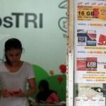 Penjualan kartu perdana dengan teknologi 4G. KONTAN/Baihaki/12/5/2016