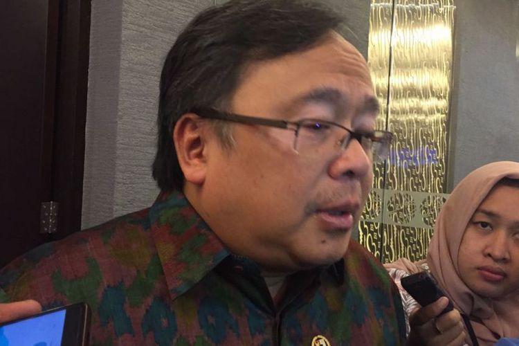 Menteri Perencanaan Pembangunan Nasional (PPN) atau Badan Perencanaan Nasional (Bapennas), Bambang Brodjonegoro. Kamis (14/12/2017) di Gedung Bursa Efek Indonesia(KOMPAS.com/NURANDINI ALYA SAM)