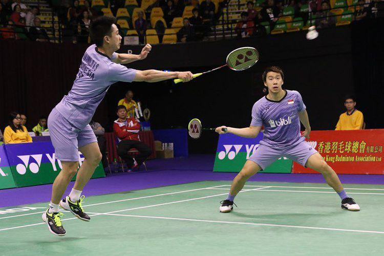 Kevin Sanjaya Sukamuljo/Marcus Fernaldi Gideon(badmintonindonesia)