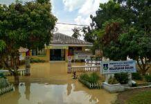Kota Tebingtinggi terendam banjir pascahujan turun dengan derasnya selama dua jam