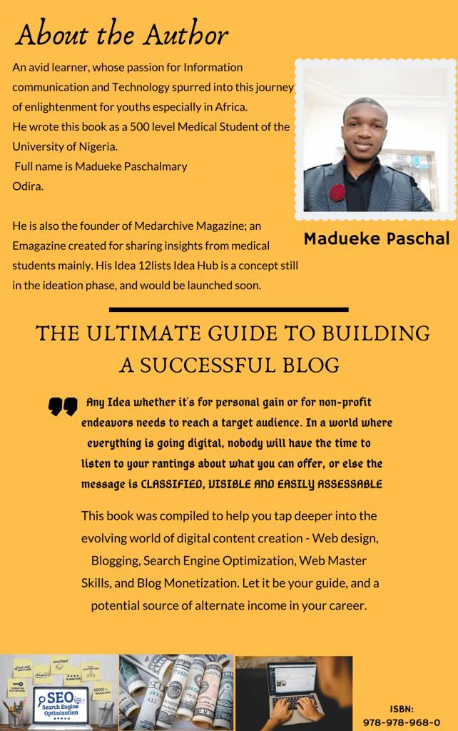 The Ultimate Guide to Building a Successful Blog - Back cover