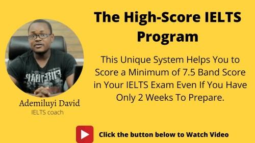 High score IELTS program