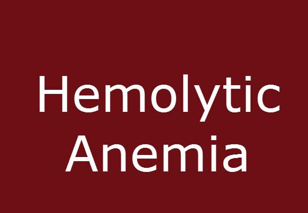 Hemolytic anemia causes and presentaiton