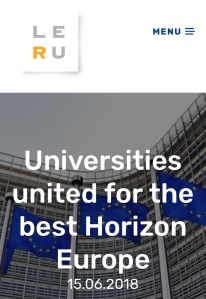 European Research Universities (LERU)   and Horizon Programme