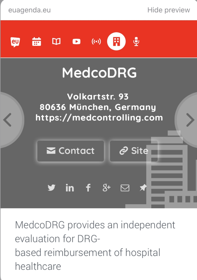 MedcoDRG on EU Agenda