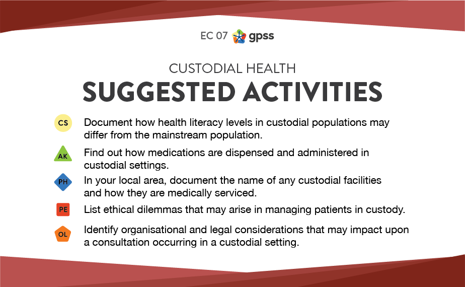 EC 07 - Custodial health 1