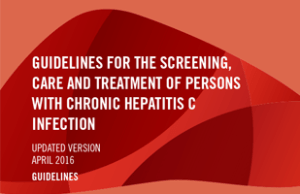 Guidelines for the screening, care and treatment of persons with chronic hepatitis C infection, World health Organization, WHO, Hepatitis, HCV