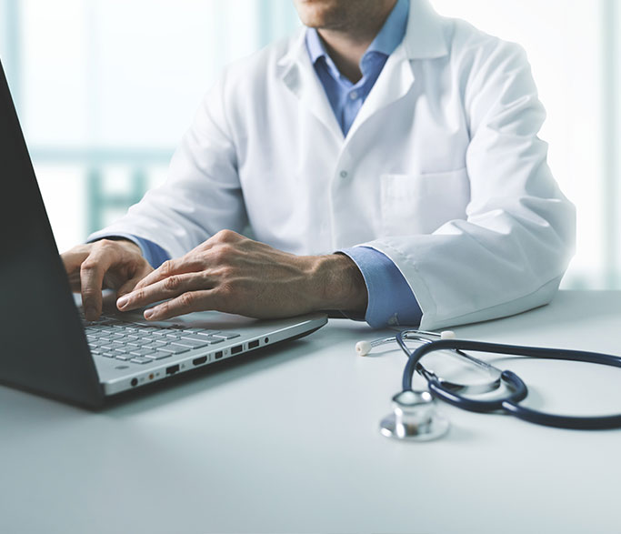 Doctor expanding care to his patients with Remote Patient Monitoring with MedekRPM services