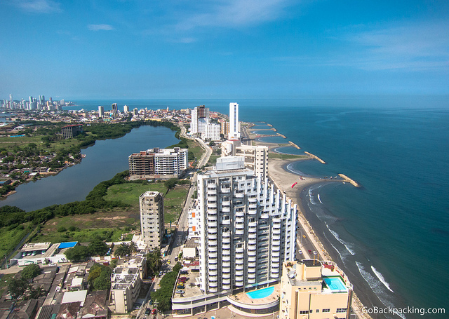 View of Cartagena from atop our building