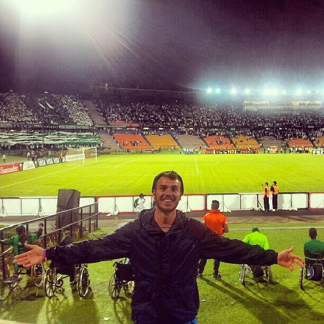 Lloyd enjoyed the Copa Libertadores game between Atlético Nacional of Medellín and Club Nacional of Uruguay.