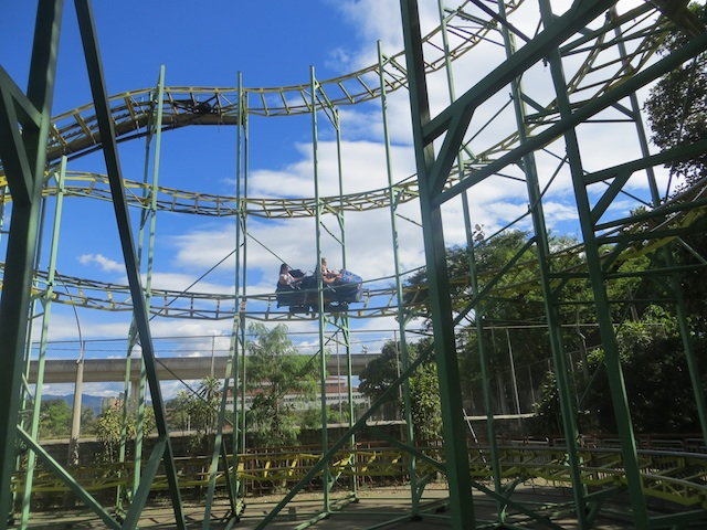 The roller coaster at Parque Norte