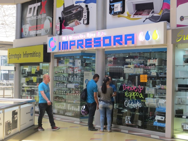 El Punto De La Impresora, one of several printer stores in Monterrey mall