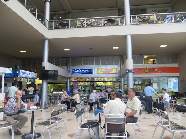 The first floor food court in Monterrey mall
