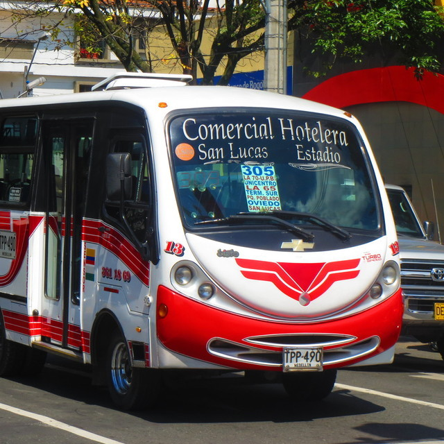 The Ruta Hotelera buses connect Laureles and Poblado.