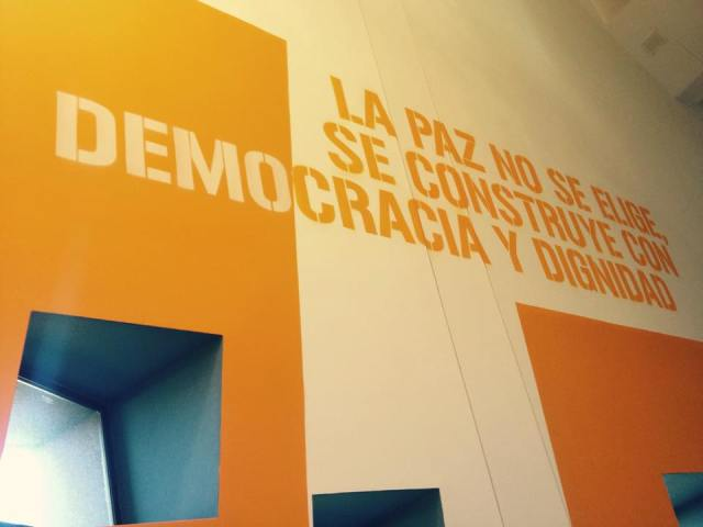 """""""Peace cannot be chosen, it is built with democracy and dignity."""""""