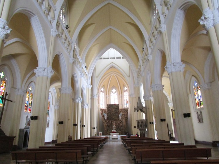 The Central Nave inside Iglesia Nuestra Señora del Perpetuo Socorro