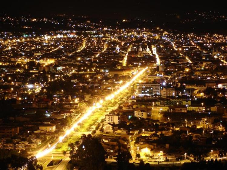 View of Cuenca at night