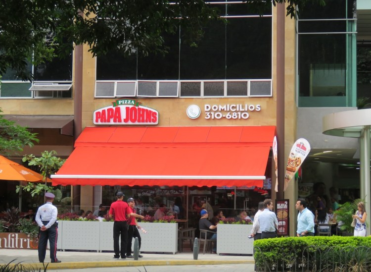 The first Papa John's in Medellín