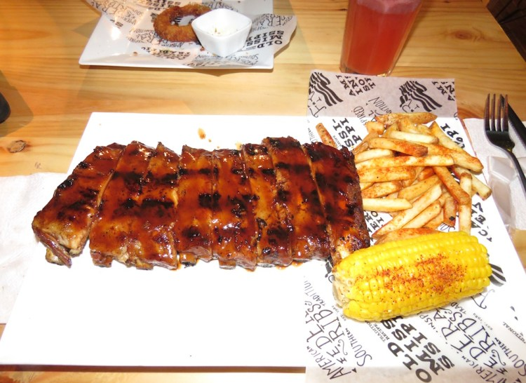 Full Rack of of ribs with Jack Daniel's BBQ sauce