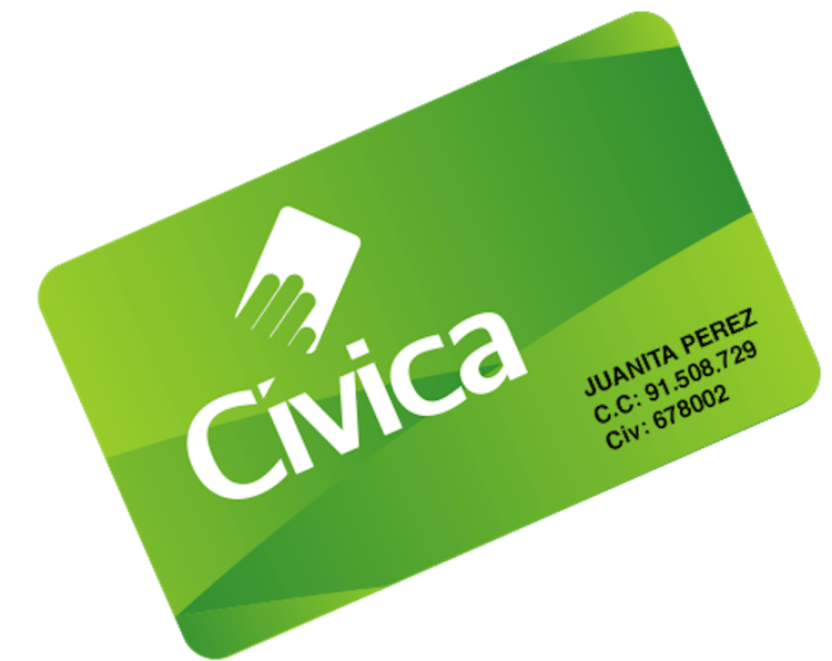 Civica card - photo courtesy of Metro de Medellín