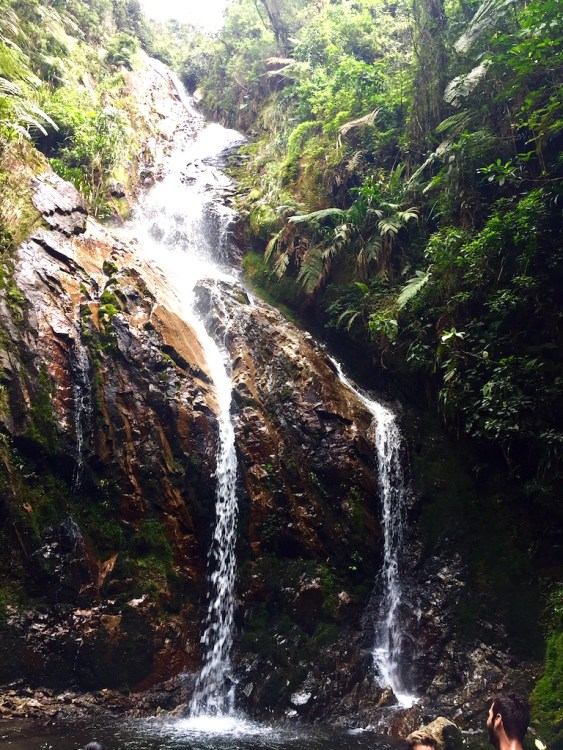 Very steep trail led to this waterfall near Arenales, Envigado area