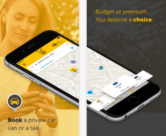 EasyTaxi App, courtesy of EasyTaxi