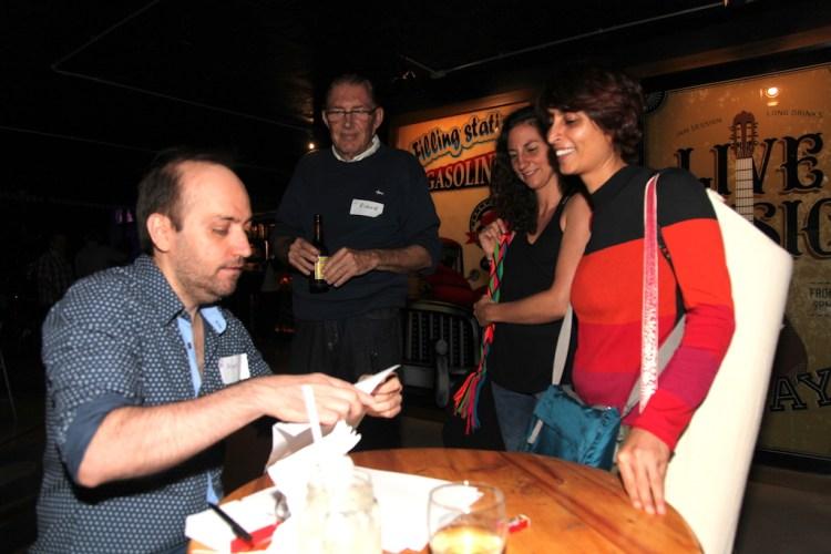 Alan handing out name tags, photo by Jenny Bojinova