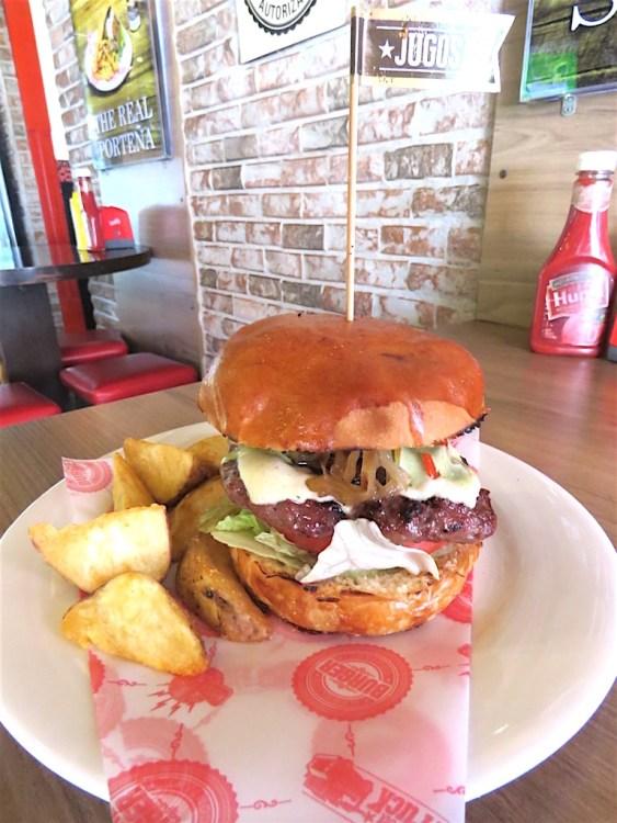 Medellin Burger Company's American burger