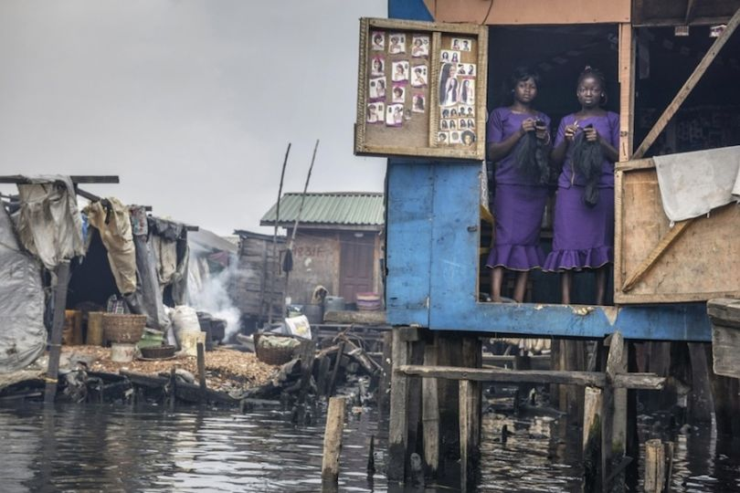 Beauty salon in Lagos, Nigeria. Photograph: Petrut Calinescu/Courtesy of Atkins CIWEM Environmental Photographer of the Year