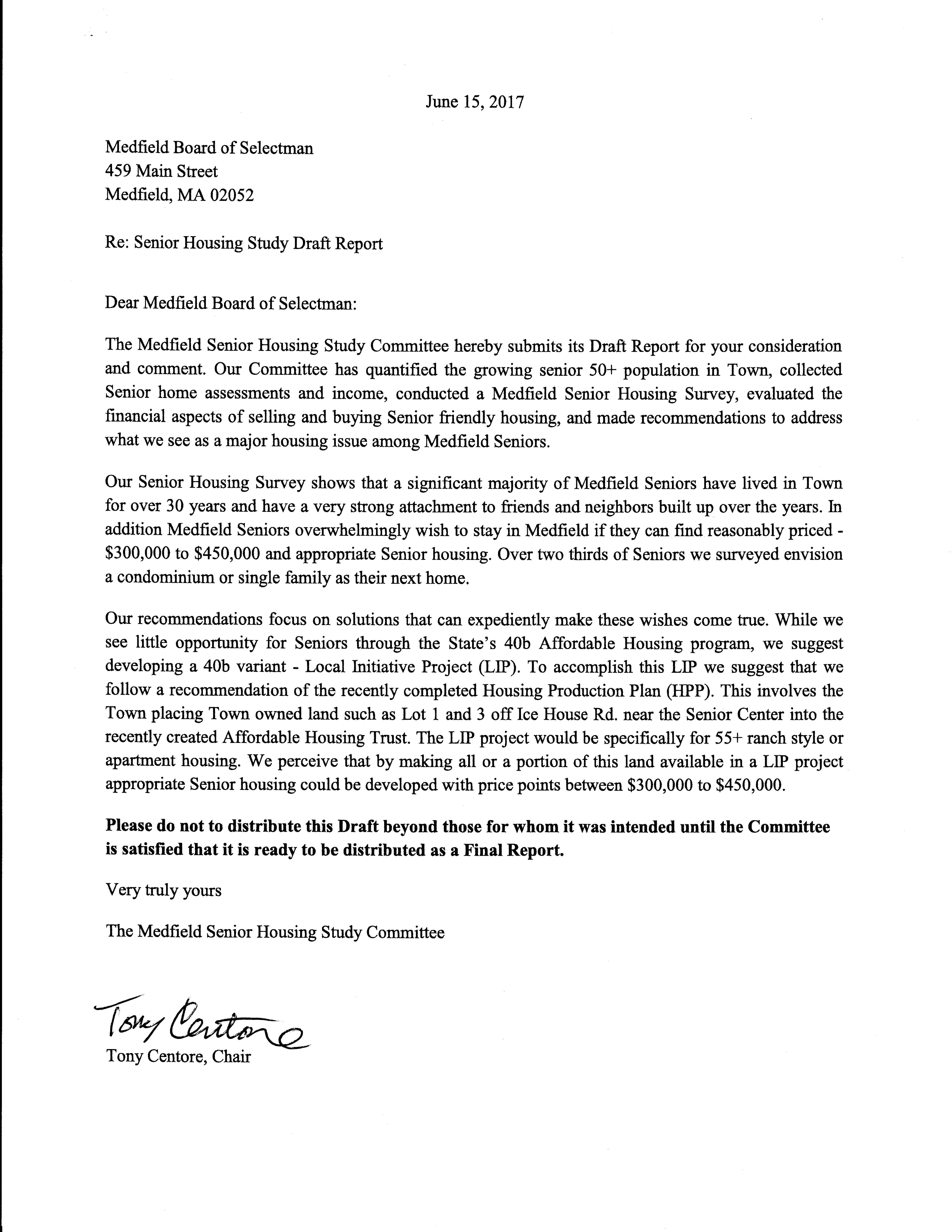 Senior Housing Study Committee Report Medfield02052s Blog
