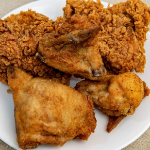 Friday dinner. KFC original recipe and hot and spicy.