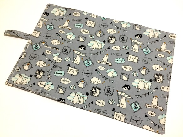 grey kitchen mat lowes refacing cabinets 防水餐具墊灰色派對北極熊 可免費加繡中文 英文字 送餐用品 廚房布